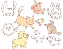 Cats Dogs Vectors