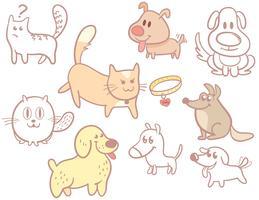 Vetores de cães de gatos