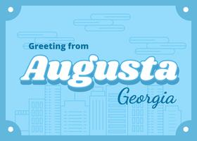 Augusta Georgia briefkaart