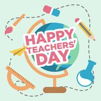 Gelukkige Teachers Day Illustratie