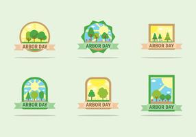 Arbor Day Badges Vector Design