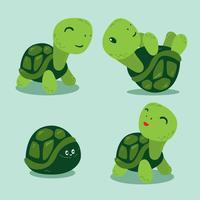 divertido vector de tortugas