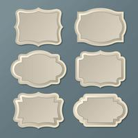 Vintage Labels Frames vector