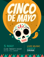 Cartaz de Cinco de Mayo