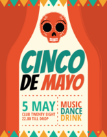 Cartel del Cinco de Mayo vector