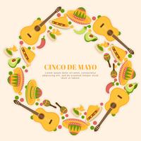 Couronne de Cinco De Mayo de vecteur