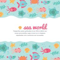 Cute And Colorful Sea World Background