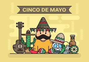Cinco de Mayo Illustration de fond