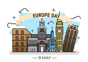Europe Day Background Illustrations
