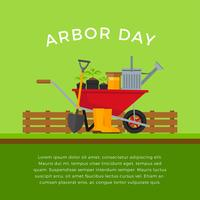 Arbor Day Template Vector
