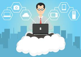 Cloud Engineers vector illustration