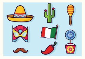 Cinco De Mayo Dekorationer Vector Pack