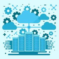 Cloud and Server Network Concept vector