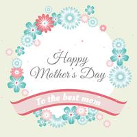 Vector Mother's Day Greeting Card