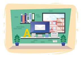 Vector Designers Room Illustration