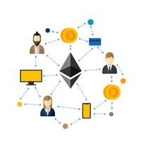 Ethereum Network Vector