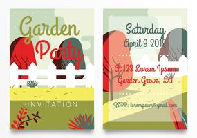 Garden Party Invitation Card Vector