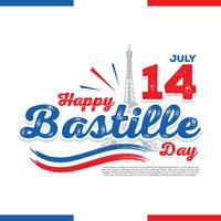 Happy Bastille Day Illustration Vector