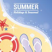 Cartão de saudação de férias de verão vetor