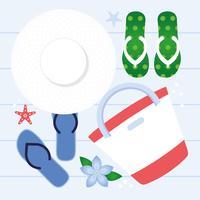 Vector zomer elementen en accessoires