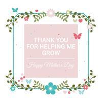 Vector tarjeta de felicitación del día de la madre