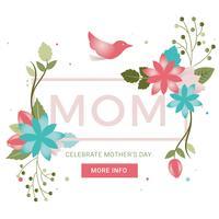 Carte de voeux de fête des mères Vector