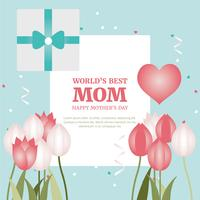 Conception de carte de voeux Vector Mother's Day