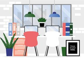 Ilustración de la habitación de diseñadores de vector