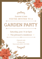 Garden Party-uitnodiging