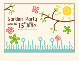 Modèle d'invitation Garden Party