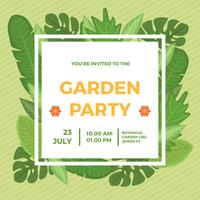 Flat Garden Party Invitation Vector Mall