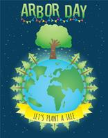 Vecteur de poster Arbor Day