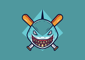 Baseball-Maskottchen-Vektor