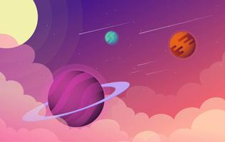 Ilustração de espaço de ficção científica vetorial