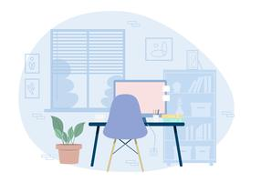 Vector Designer's Room Illustration