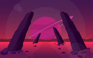 Vector Fantasy Landscape Illustration