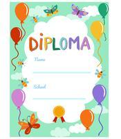 Diploma de jardim de infância 2 vetores