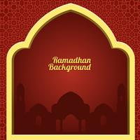 Ramadhan Red Background Vector