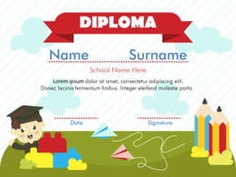 Vector de Diploma de Kindergarten