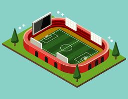 Stade de football isométrique
