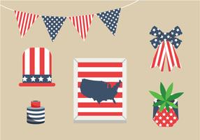 Pack de vectores de decoraciones de Memorial Day