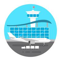 Flat Style Airport