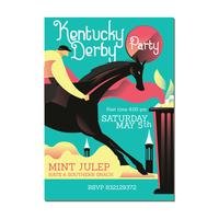 Invitation with Horse Ridding and Mint Julep