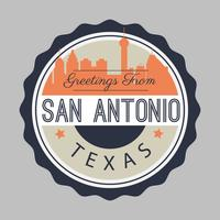 San Antonio briefkaart illustratie