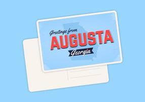 Augusta Georgia vykort typografi