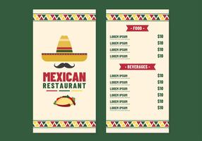 Mexican Restaurant Meny Vector