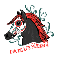 Day of The Dead Horse Sticker