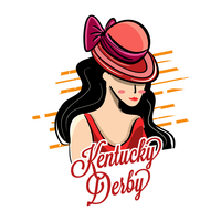 Chapeau de Derby du Kentucky avec Illustration de Belle Fille