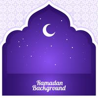 Crescent Ramadan Background Vector