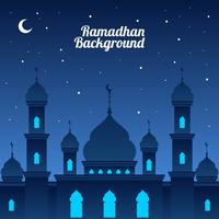 Night Ramadhan Background Vector